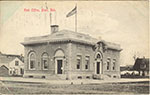 Undated postcard of the post office in Blair. Postcard is used, but is not postmarked. No date given.